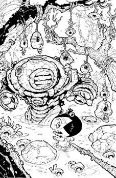 Pocket God 12: Inked Cover by RoloMallada