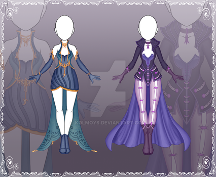 [Close] Adoptable Outfit Auction 86-87 by Kolmoys