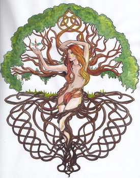 Enchanted Mother Tree by entropyembrace