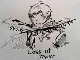 Loss of Trust (NINGENTALE PAPYRUS) by CarrilRego