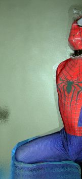 Spider-man bagged for some breathplay 1 by rubbermask