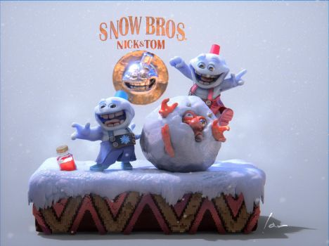 SNOW BROS. Nick  and Tom by ianparra