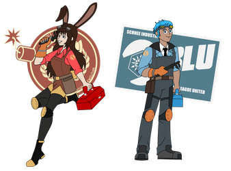 Team Fortress RW-BY: Engineer class by Soundwave3591