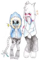 GB! Sans and Tori again ^^ by AnaNini
