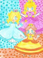 Princesses - Floating by Juliana1121