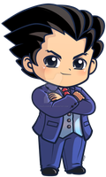 Phoenix Wright_ Ace Attorney Chibi Charm by pinkplaidrobot