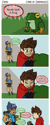 Frogs comic [BotW] by Soulfire402