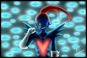 Glitchtale Undyne (Collaboration) by Ice6400