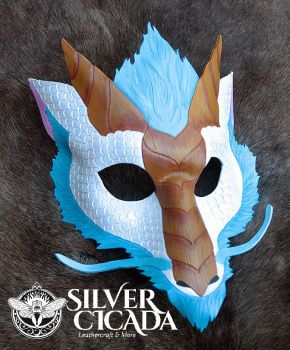 Leather Air Dragon Mask by SilverCicada