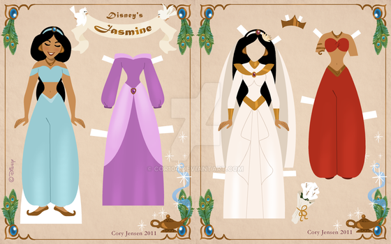 Jasmine Paper Doll by Cor104