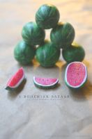 watermelons - 1:12 scale handmade miniature by TheMiniatureBazaar