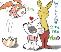 Welcome patamon by kasaboy
