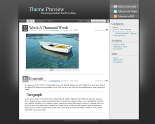 Kinda Dark Wordpress Theme by Mantiuxa