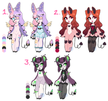 Succubear Guest Adopts Set #1 (CLOSED) by LunaOfWater