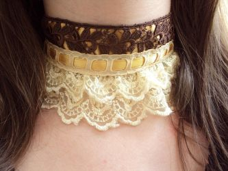 Lace Choker by VictorianRedRose