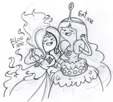 Sketch: Eat the cake and blow the candle by JaviDLuffy