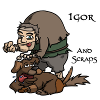 Igor and Scraps by Iddstar