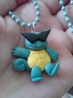 Punk Squirtle Charm Necklace