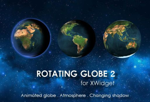 Rotating Globe 2 (animated) for xwidget by Jimking