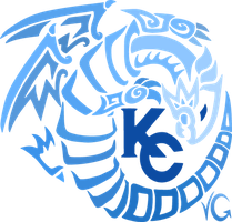 Blue Eyes White Dragon - Gradient Blue by vaguelygenius