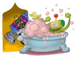 Katamari Bathtime by pickassoreborn