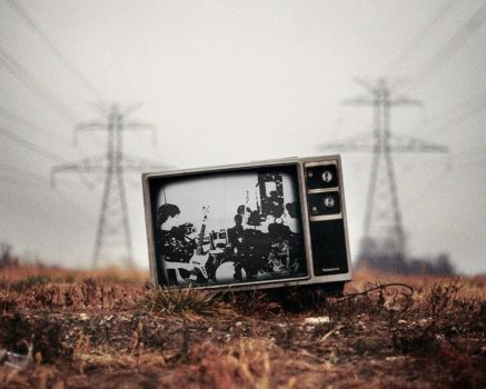 My band is on the oldschool TV by stevenkom