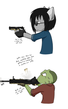 The proper way to shoot stuff by Sandwich-Anomaly