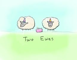Two Ewes by MariahLynnDesign