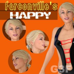 G3F Happy Expressions, by farconville by FantasiesRealmMarket