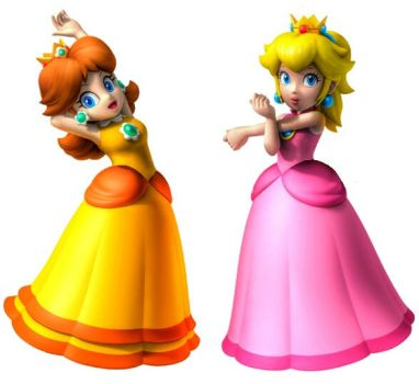 Super Mario Sunshine Peach and Daisy by earthbouds