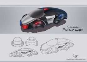 Futuristic police car by iEvgeni