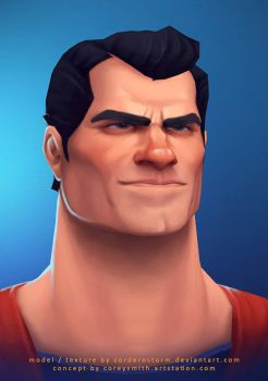 Superman 3D by CorderoStorm