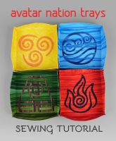 Sewing Tutorial - Avatar Nation Trays by SewDesuNe