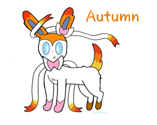 Autumn the Sylveon (Sona/Oc) by SylveonAutumn