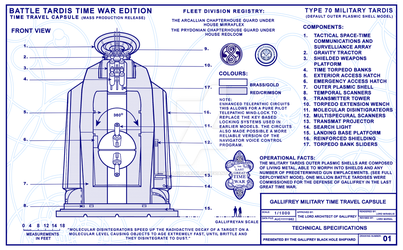 Battle Tardis Time War Edition Sheet 1 0f 12  by Time-Lord-Rassilon
