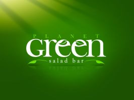Logo Green Salad Bar by gustavitos