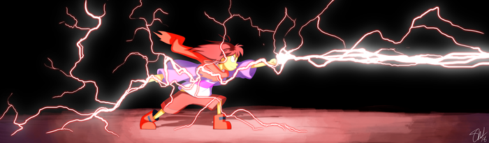 Undertale - Lightning magic by TC-96