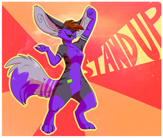 Stand up by coffaefox