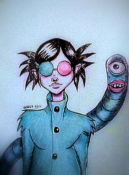 Gorillaz- Noodle -Saturnz Barz by ThatSweetPineapple