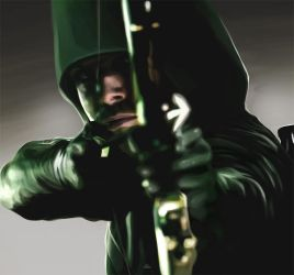 Green Arrow - CG Painting by Kc-Eazyworld