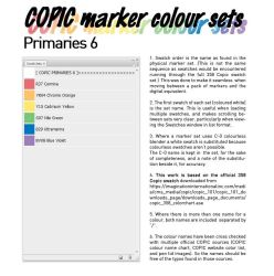 COPIC marker colour set - Primary 6 by d-signer