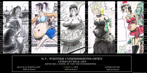 Literature and Art Commissions- OPEN by SV-Writer