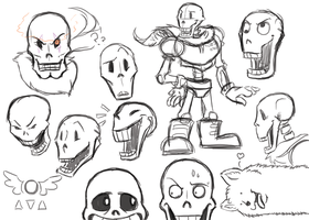 Papyrus Sketches by TabbyWesa