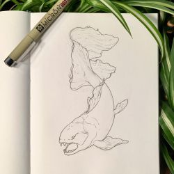 Inktober 10: A Fancy Dunkleosteus by Alithographica
