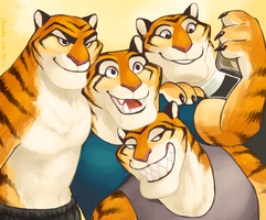 Group selfie by chirenbo
