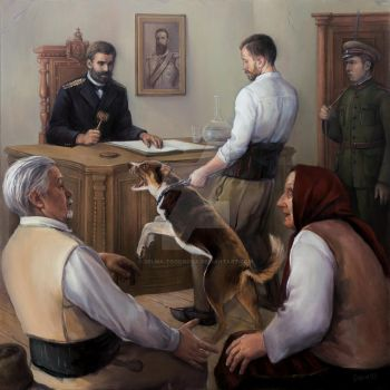 Ivan Vazov judges a dog to death by selma-todorova