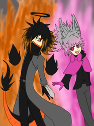 The Dragon And The Bunny by FireSnakeGaming13