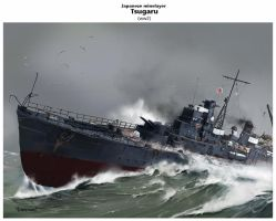 IJN Minelayer TSUGARU by dugazm