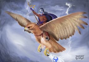 The Arch Mage Rides to Battle by Riverthorne