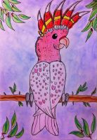 Major Mitchell's cockatoo by Viperwings